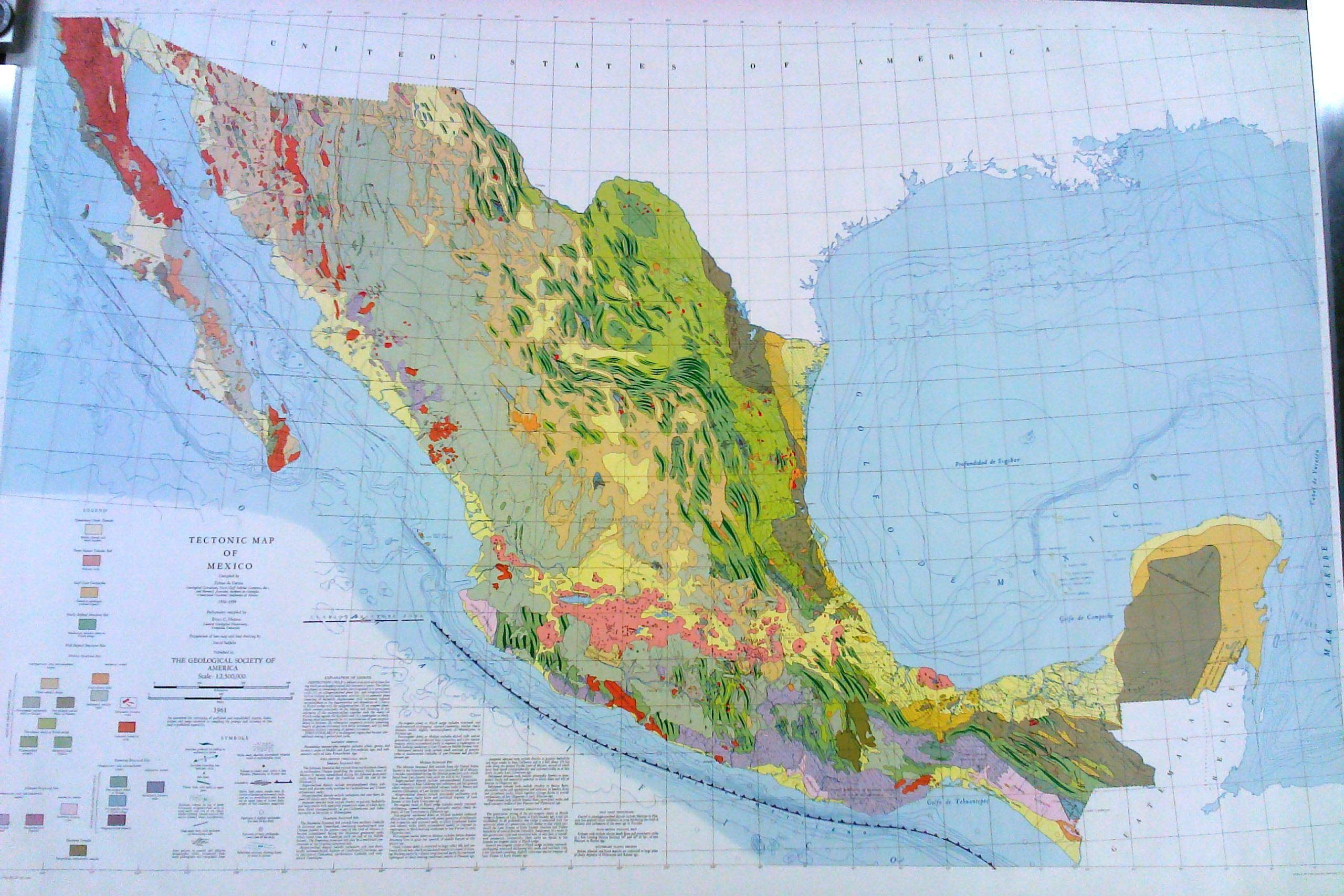 tectonic map of mexico the geological society of america 1961