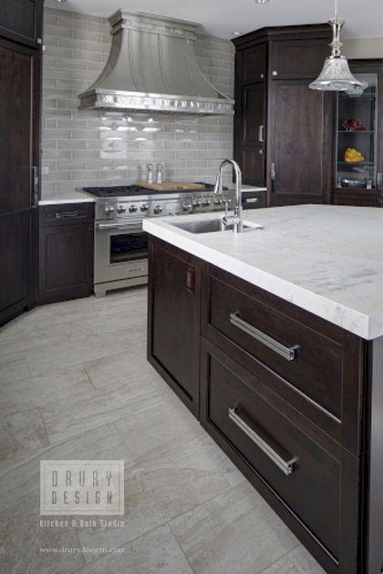 Transitional Naperville Illinois Kitchen Remodel Featuring Dark Stained Cabinets Mar Kitchen Appliances Luxury High End Kitchens Transitional Kitchen Design