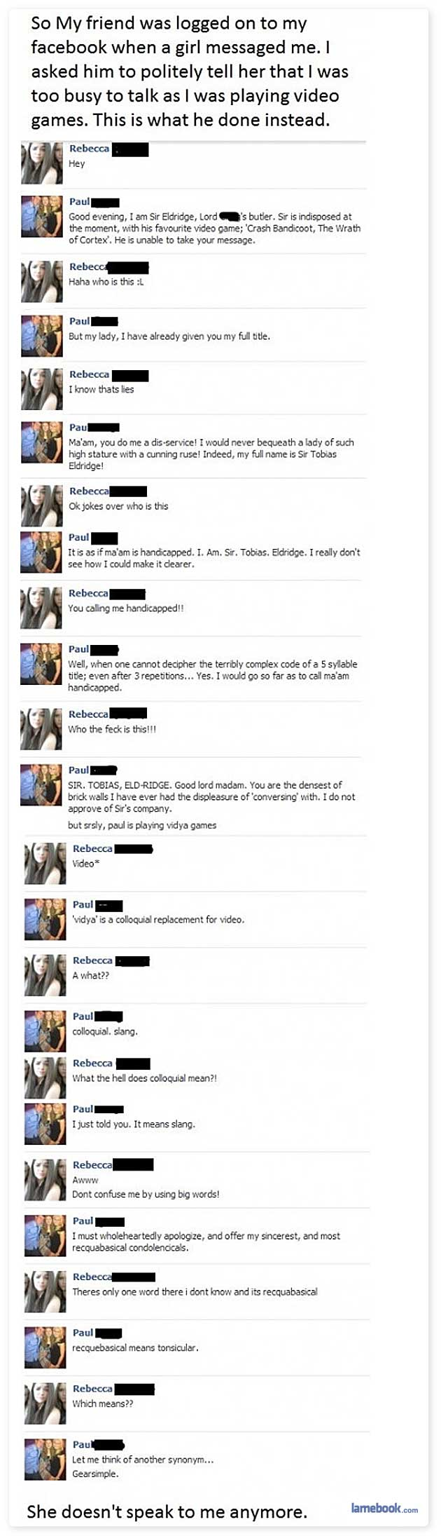 Lamebook – Funny Facebook Statuses, Fails, LOLs and More – The Original » Good Evening