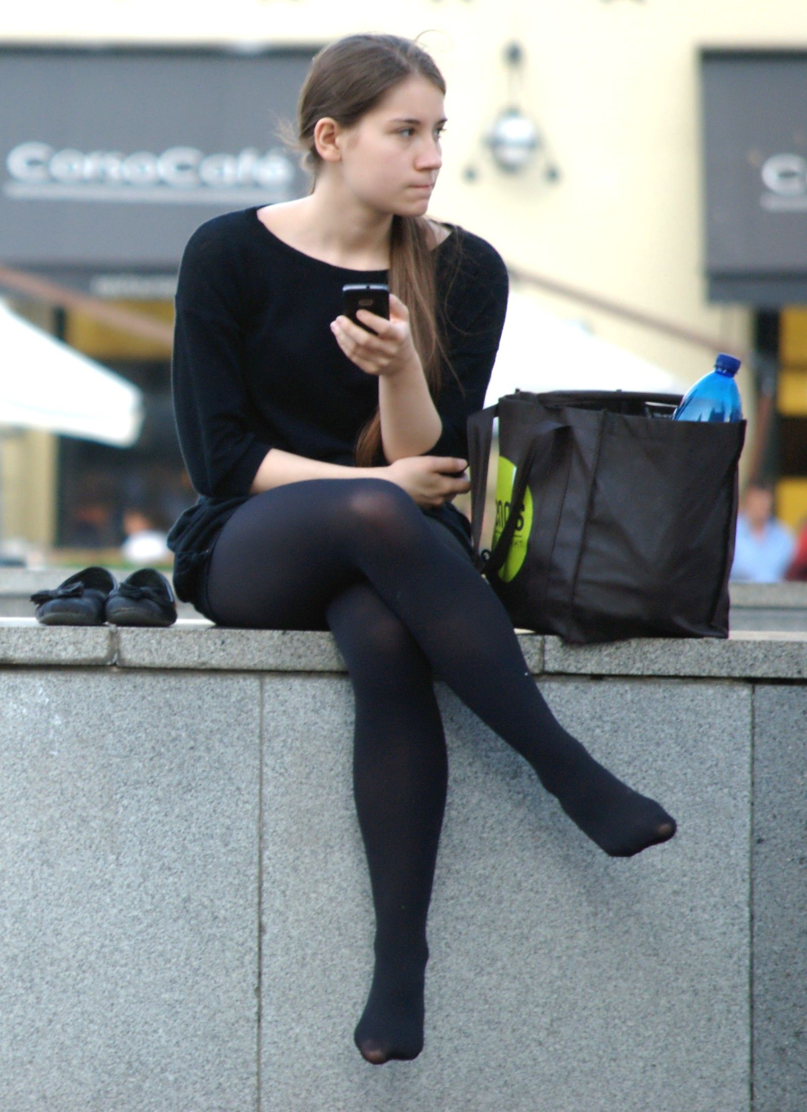 Candid outdoor pantyhose pictures understand you