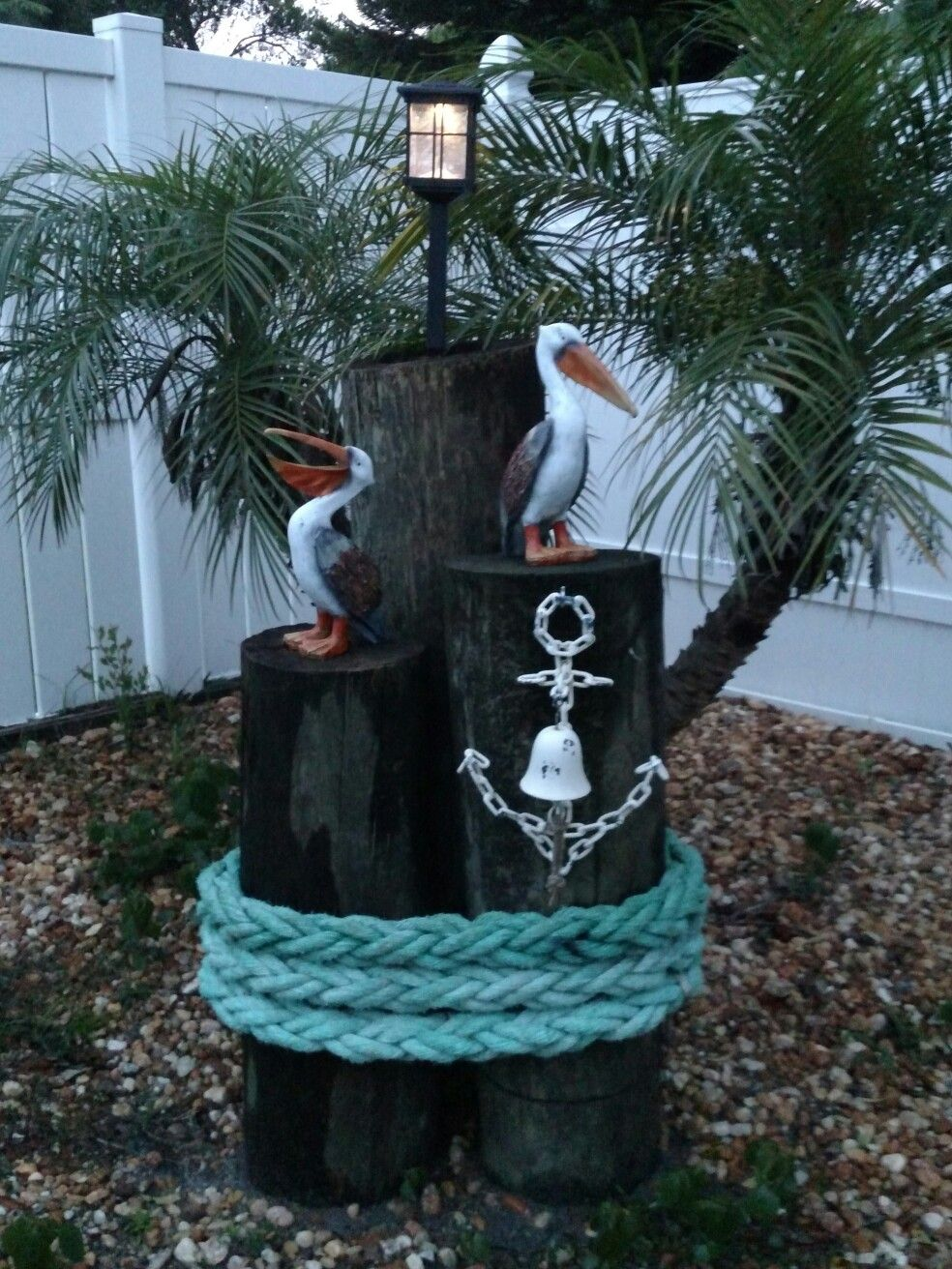 Pin By Wally On Outside Nautical Outdoor Decor Nautical Landscaping Front Yard Decor