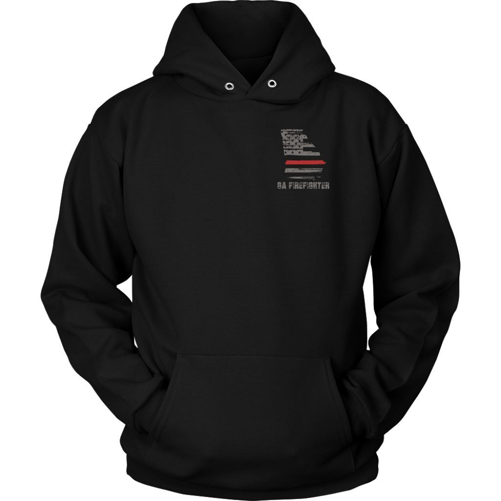 Georgia Firefighter Thin Red Line Hoodie
