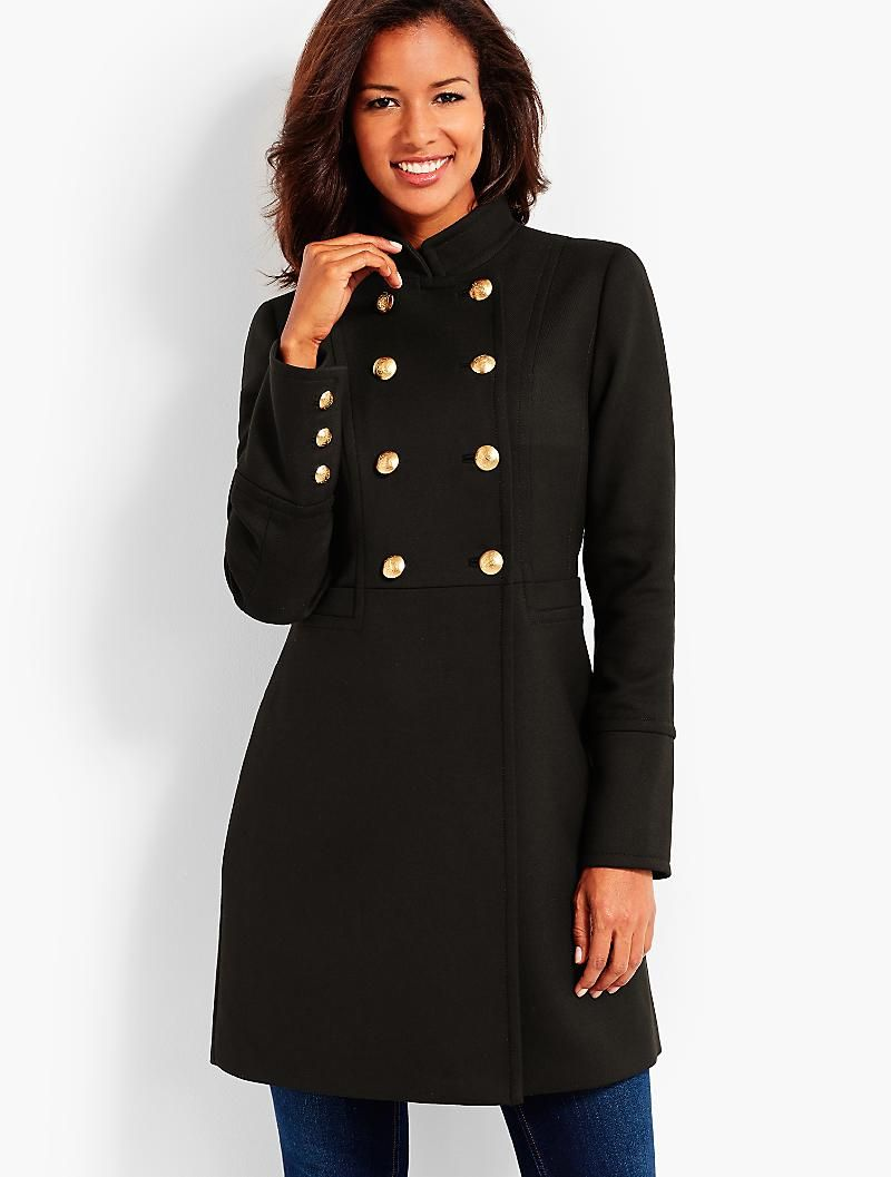 Military Inspired Coat Talbots Clothes Fashion Military Inspired [ 1057 x 800 Pixel ]