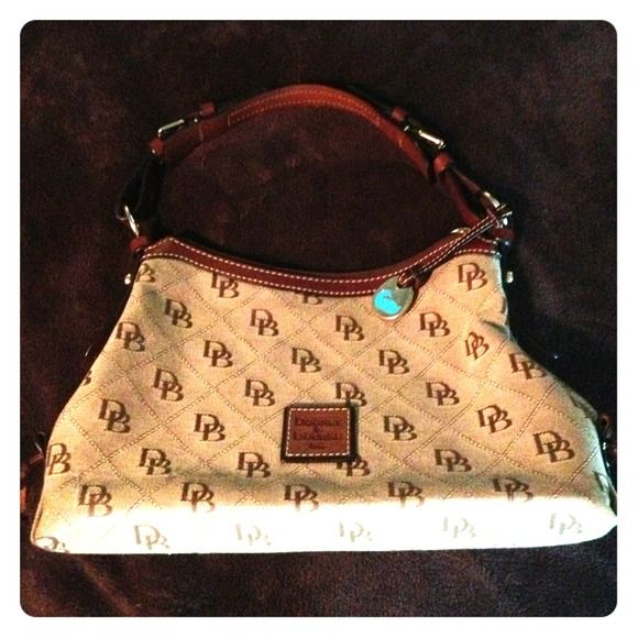 Dooney And Bourke Canvas Handbag With