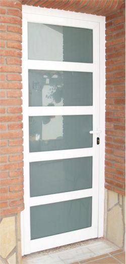Puerta de aluminio exterior para el hogar puertas en for Puertas de calle aluminio precios