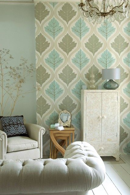 Feature Walls | Wallpapers I love In Rooms | Home wallpaper, Diy living room decor, Living room ...