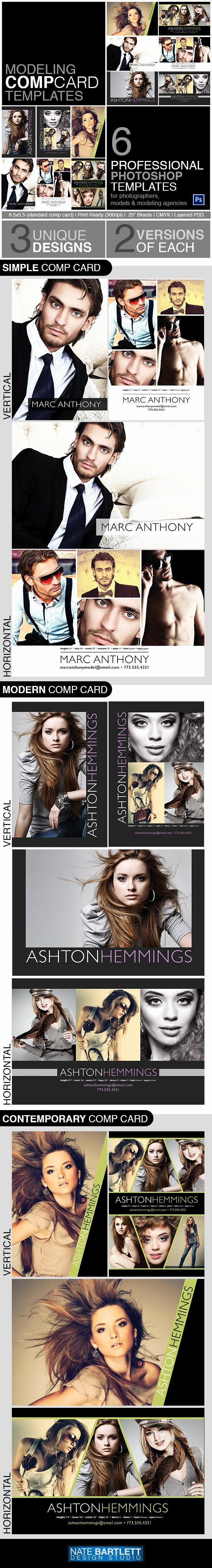 Comp Card Template Psd Download Lovely Model P Card Template Kit Preview By Natebelow0 On Model Comp Card Card Templates Free Card Template