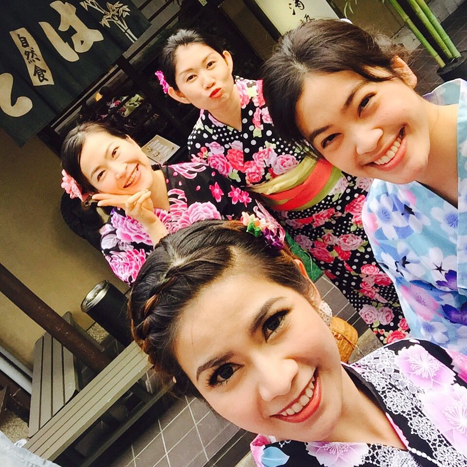 Dressed up with the traditional Japanese dress, called 'Yukata'. It's was one of my summer trip experience. #Yukata #Japanese
