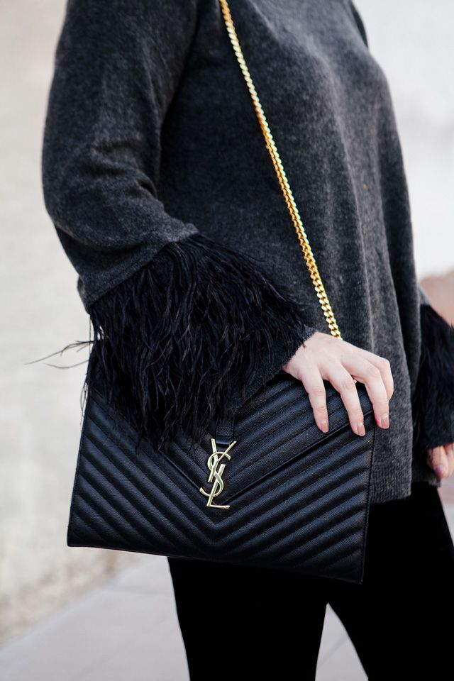 Festive Feathers Ysl Monogram Bag Ysl Crossbody Bag