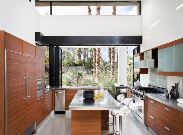 Wondrous Palm Springs Residence Large Galley Italian Kitchen With Download Free Architecture Designs Xaembritishbridgeorg