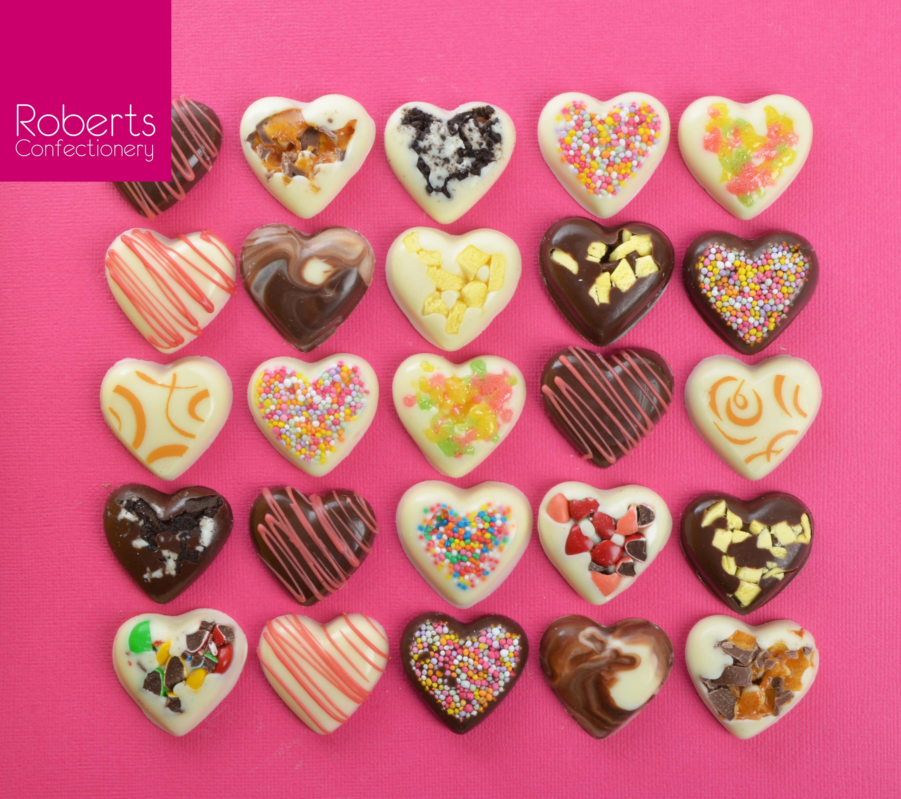 Made using Roberts Confectionery Heart Chocolate Mould & Roberts ...
