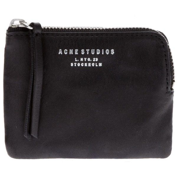 ACNE 'Pouch' wallet ($93) ❤ liked on Polyvore featuring bags, wallets, fillers, accessories, clutches, black, pouch bag, acne studios, card slot wallet and logo bags