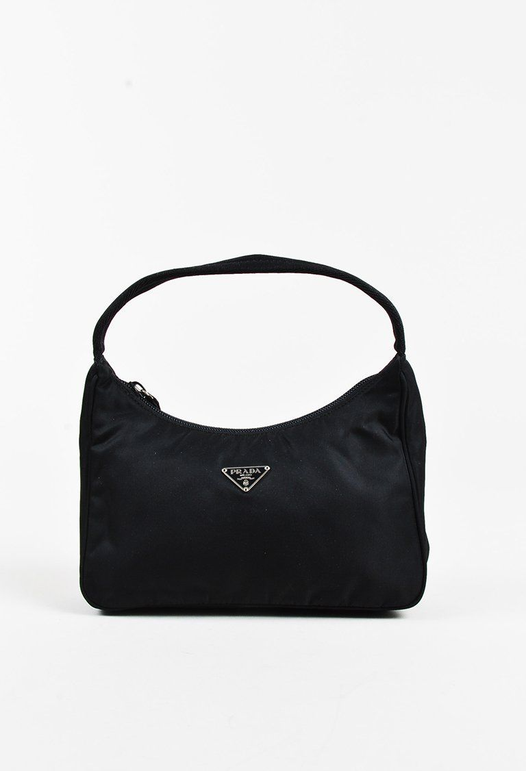94735c845745 Prada - Black Nylon Woven Top Handle Mini Tote Bag
