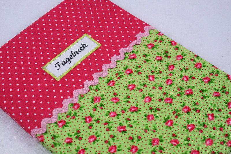 Tagebuch grün+Blümchen von Sweet Homemade Things by christina prinz auf DaWanda.com