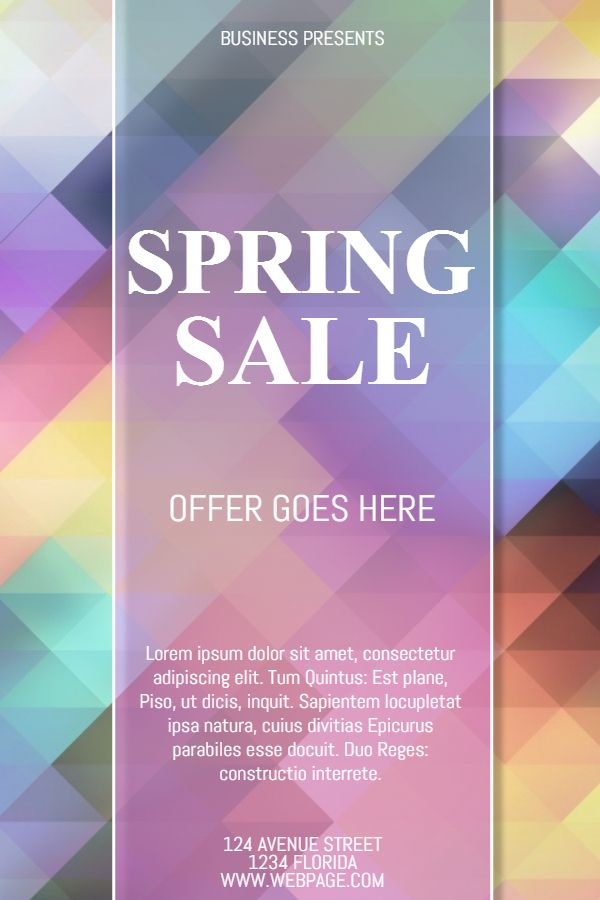 rainbow color spring sale poster design click to customize