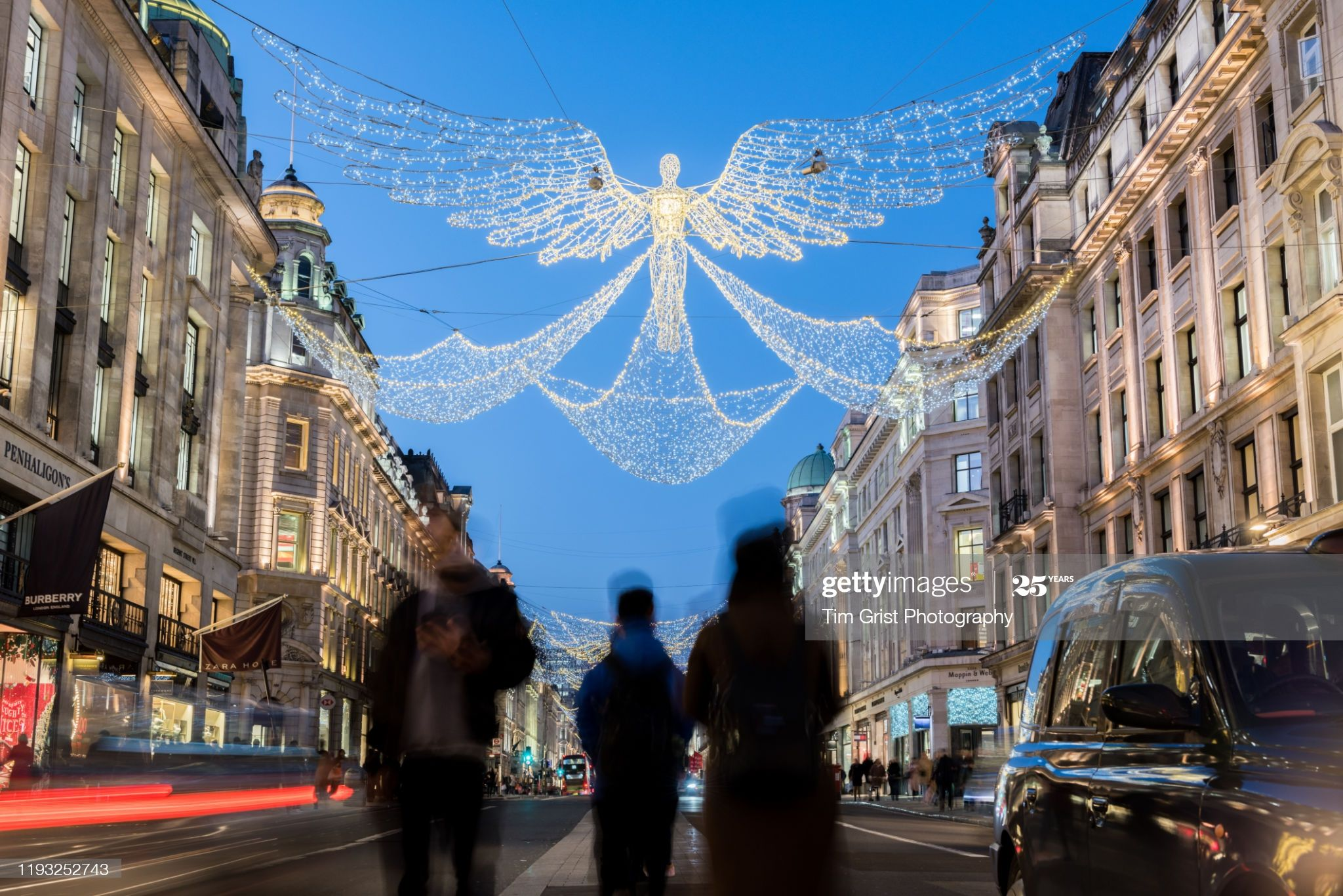 Stock Photo : Regent Street, London at Christmas, UK.
