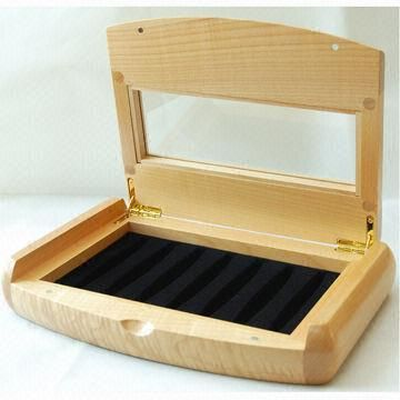 Wooden Trinkets Gift Box Acrylic Window Homemade