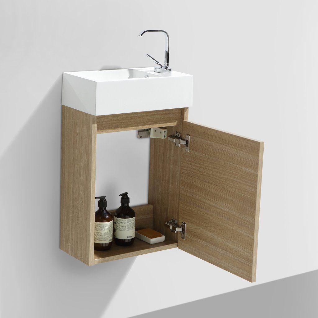 Meuble Lave Main Salle De Bain Design Siena Largeur 40 Cm Chene Clair Meuble Lave Main Salle De Bain Design Et Meuble Toilette
