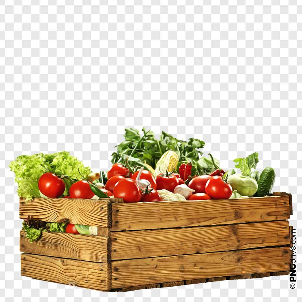 Vegetables Wood Box Png Image Wood Boxes Benefits Of Organic Food Png