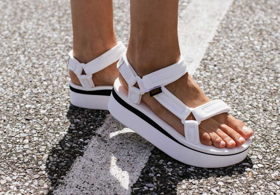Flatform Universal Mesh Print Flatforms Teva Flatform Printed Sandals