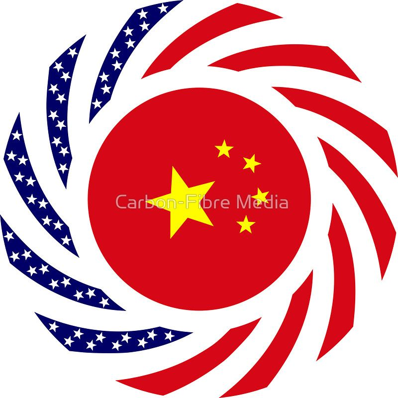 Chinese American Multinational Patriot Flag Series\u0027 Sticker by