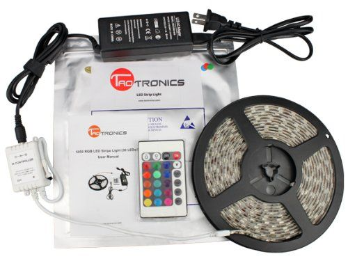 Taotronics Tt Sl001 Waterproof 16 4 Ft Rgb Color Changing Kit With