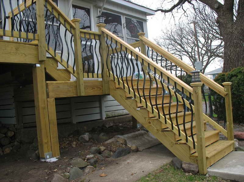 Building Deck Stairs Railing View Lots Of Deck Railing Ideas Http - Building deck stairs railing