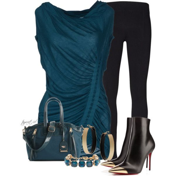 Sea Green and Black, created by tayswift-1d on Polyvore