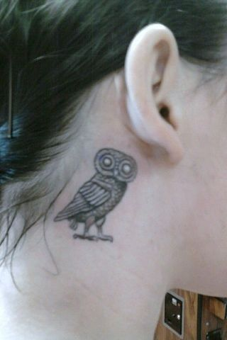 Tattoo Titled Athenas Owl Symbol As Seen On The Ancient