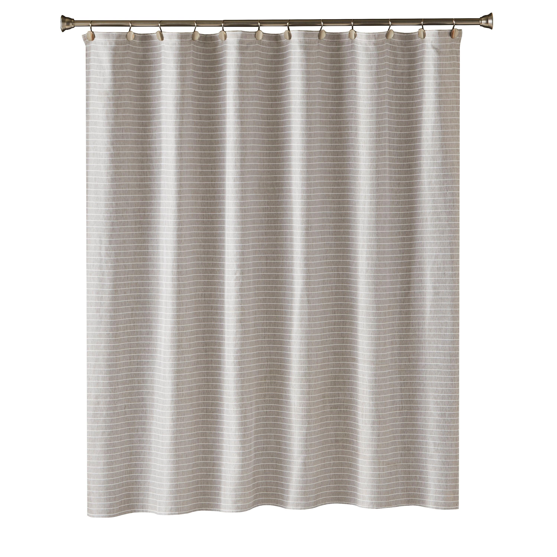 Skl Home Neutral Stripe Shower Curtain Beige 70 X 72 Striped