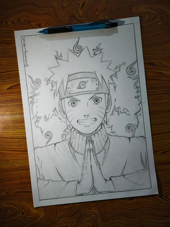 Photo of I drew Naruto, my most favorite character ever!
