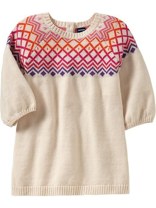 Old Navy   Fair Isle Sweater Dresses for Baby   baby girl ...