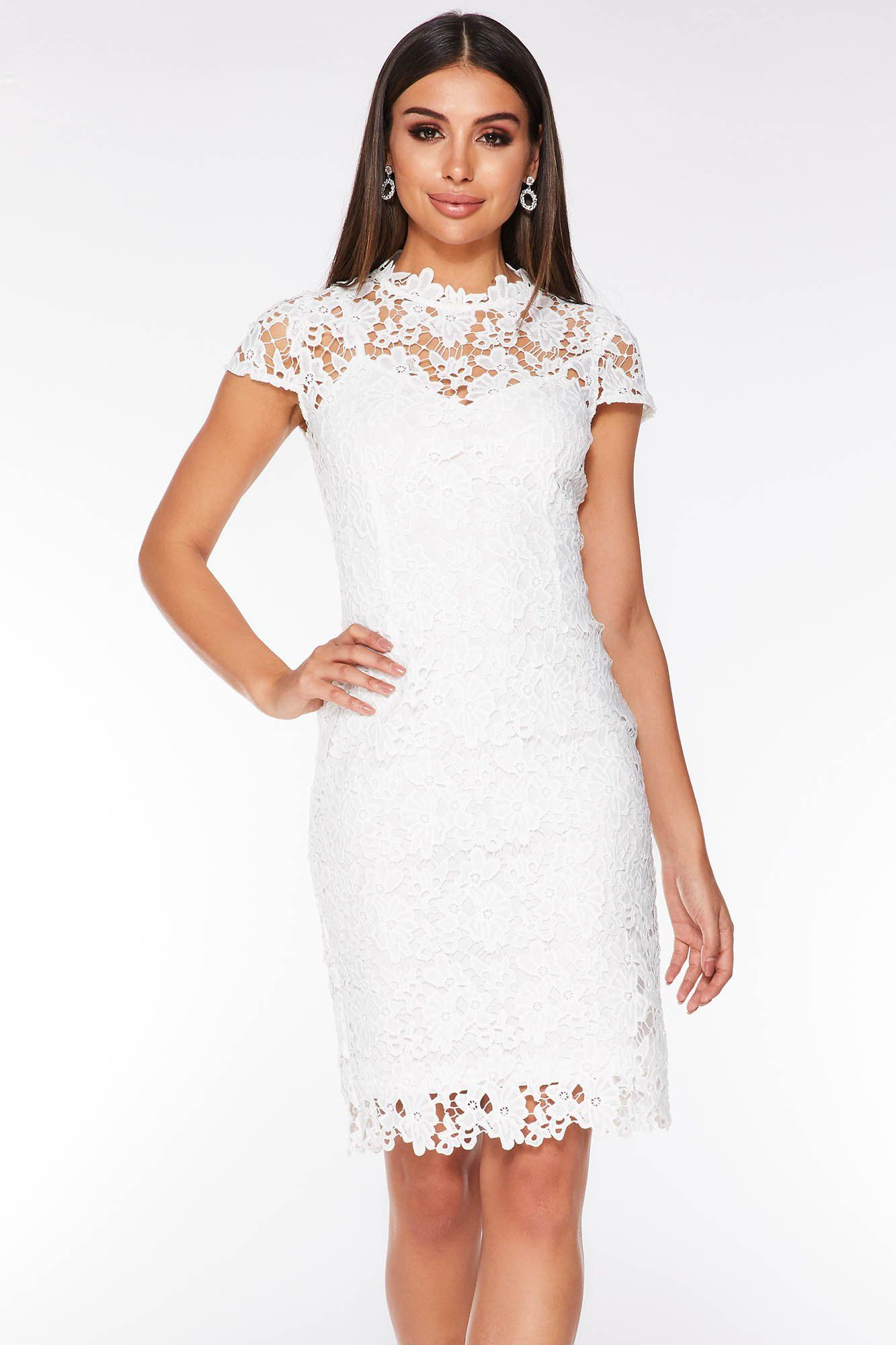 Pin By Spot Pop Fashion On Aintree White Lace Mini Dress Midi Dress With Sleeves Dresses [ 2000 x 1333 Pixel ]