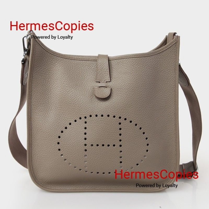 a65c31821845 Hermes Evelyne III PM Etoupe Clemence Leather with Silver Hardware ...