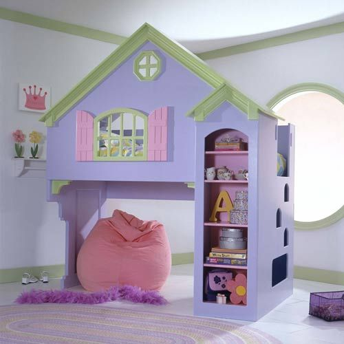 Tanglewood Dollhouse Loft Bunk Bed Set Wooden Ababy Com House Bunk Bed Dollhouse Bed Girl Beds