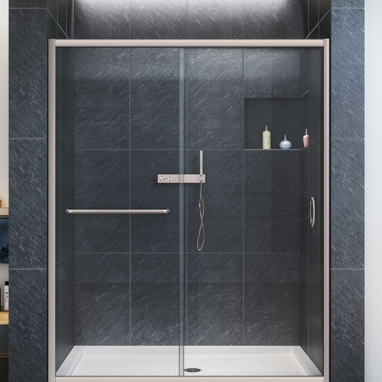 This Kit Combines The Infinity Z Shower Door With A Coordinating