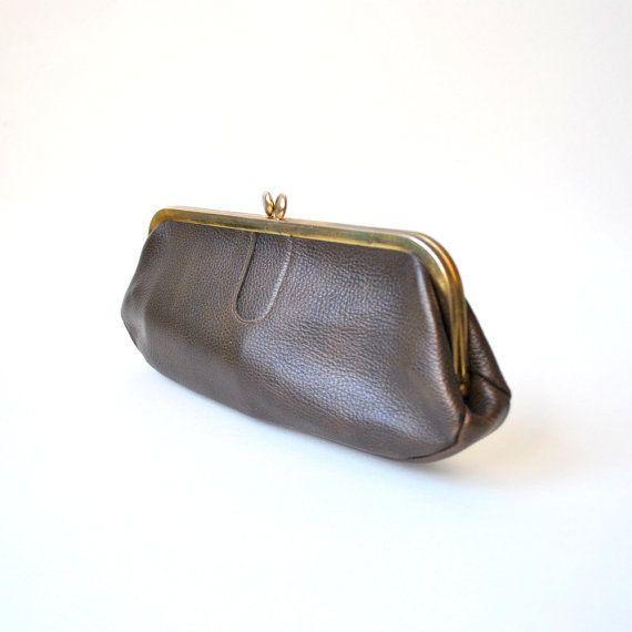 vintage Letisse clutch / pebbled leather / by RockAndRollVintage, $34.00