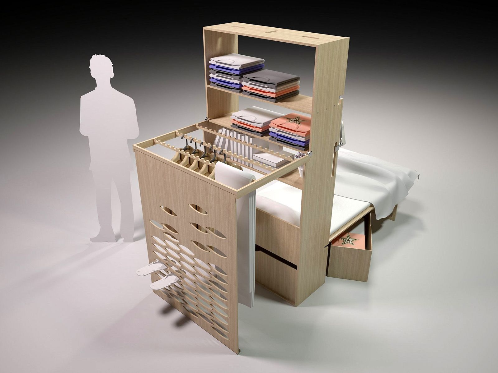 Danius Miegamasis 2 0 Transformable Furniture Is Built With