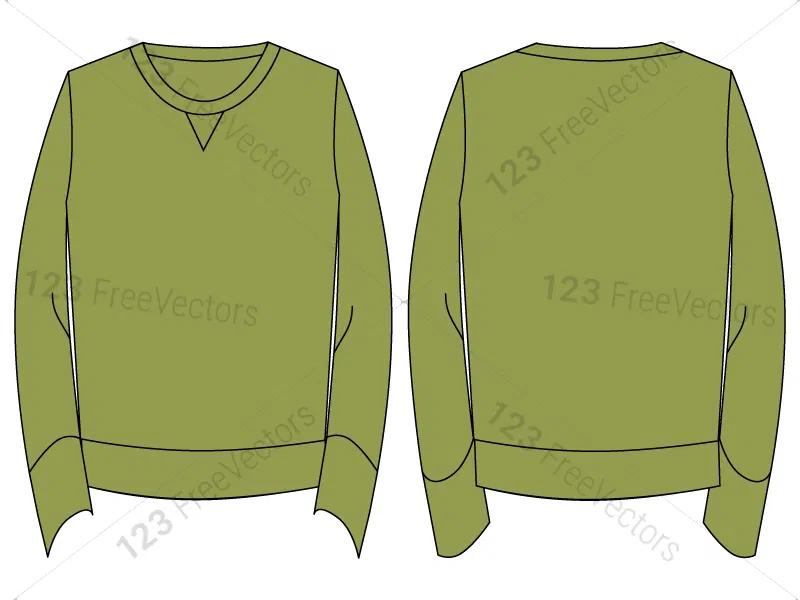 Download Men S Long Sleeve T Shirt Template Vector And Psd Pack 01 Shirt Template Long Sleeve Tshirt Men Long Sleeve