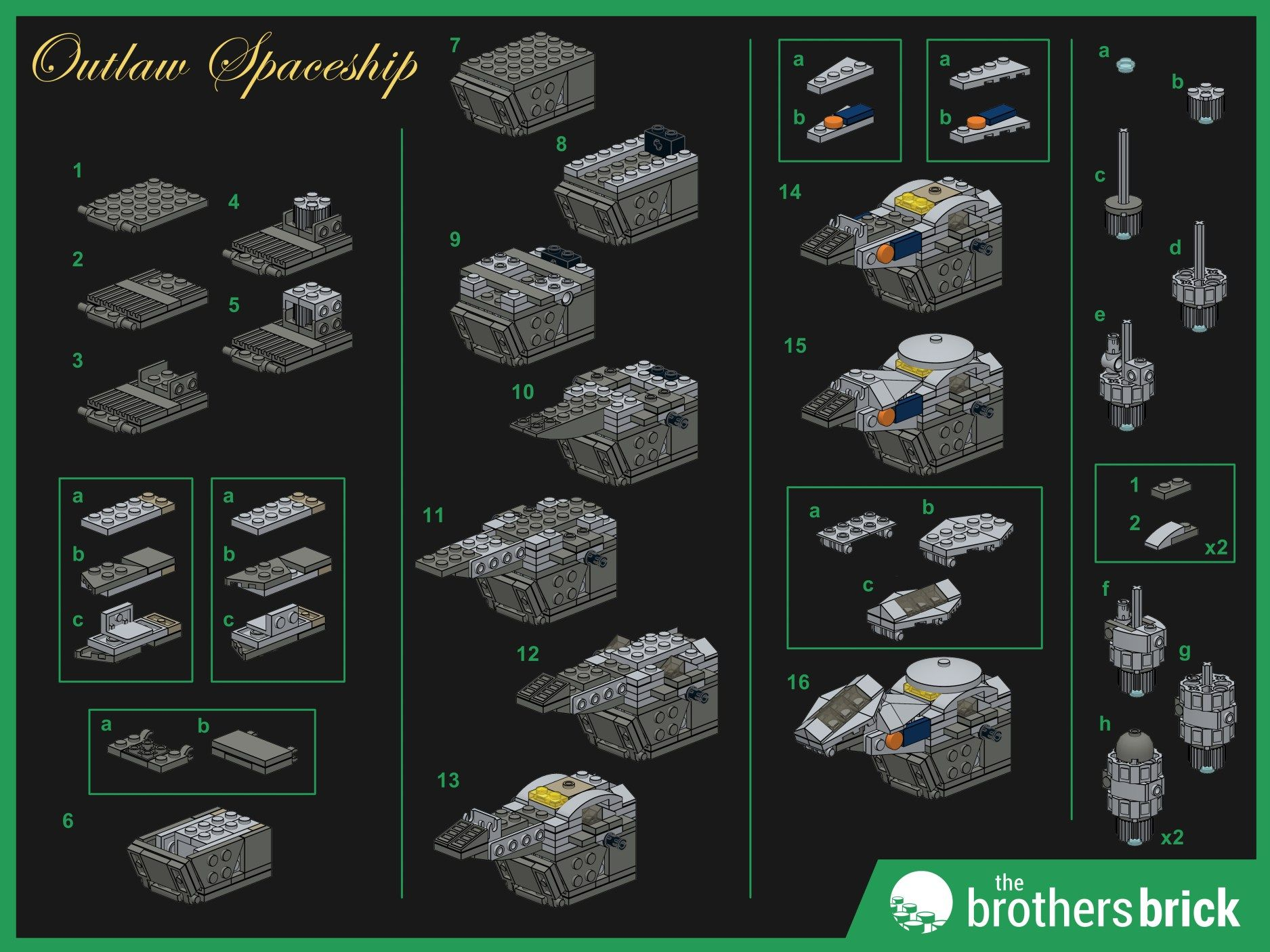Custom Lego Outlaw Spaceship Instructions 1 Lego Ships And