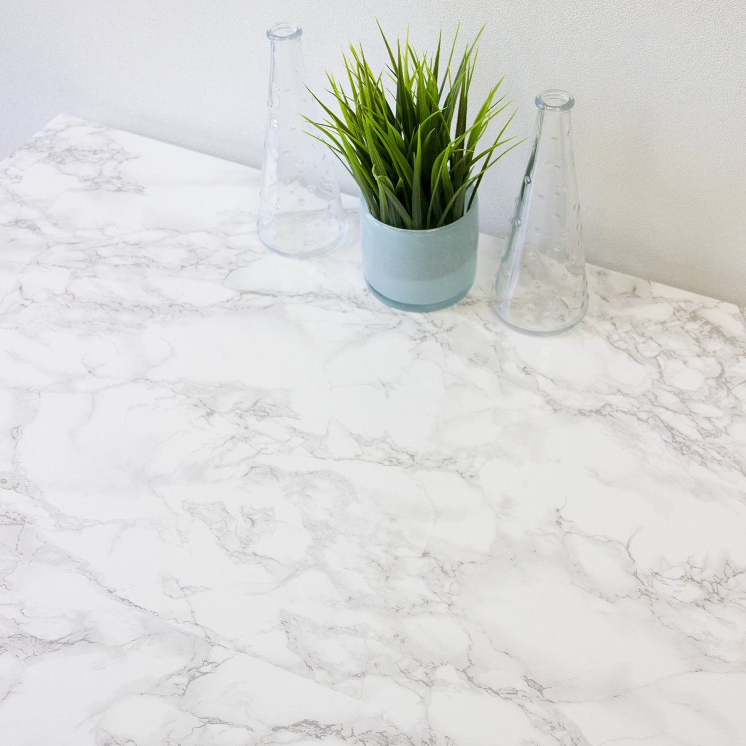 Marble Look Countertop Film To Dress Up Our Laminate Counters