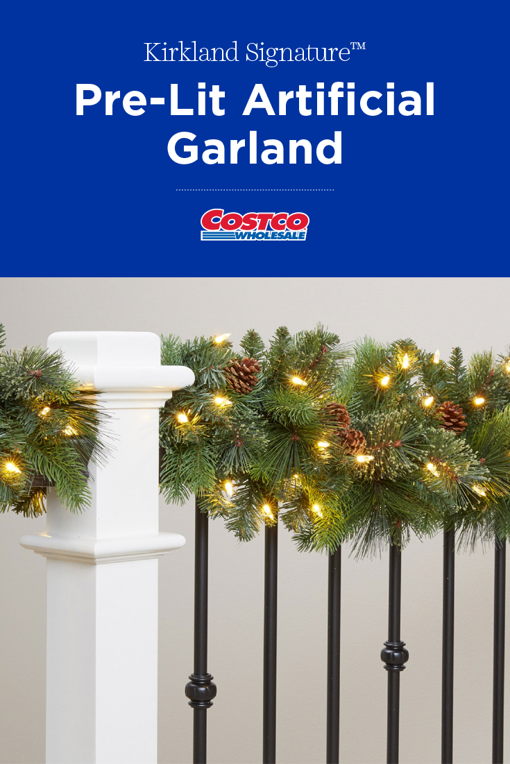 Set Up Your Indoor Holiday Scene Instantly With This 9 Pre Lit Garland