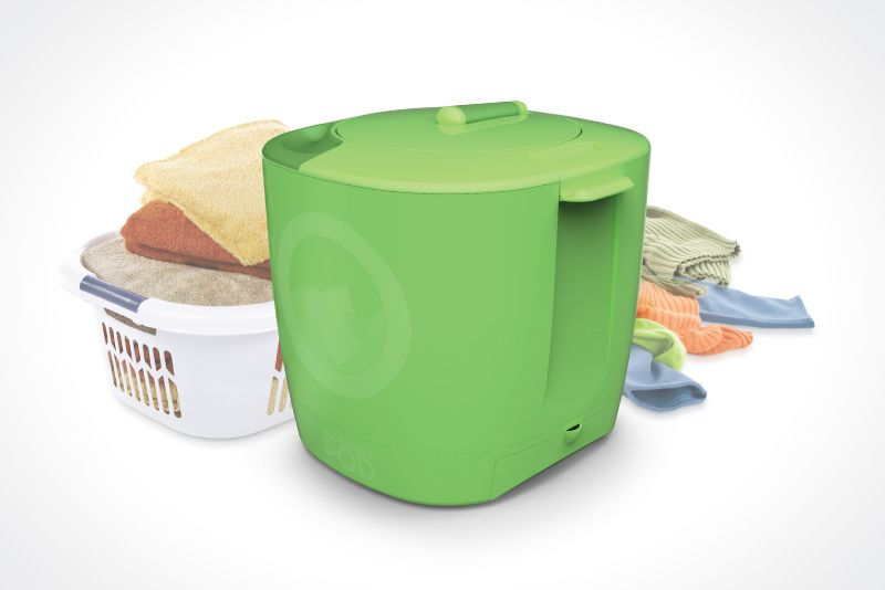 The Laundry POD is a portable environmentally friendly washer designed for small and in-between loads.