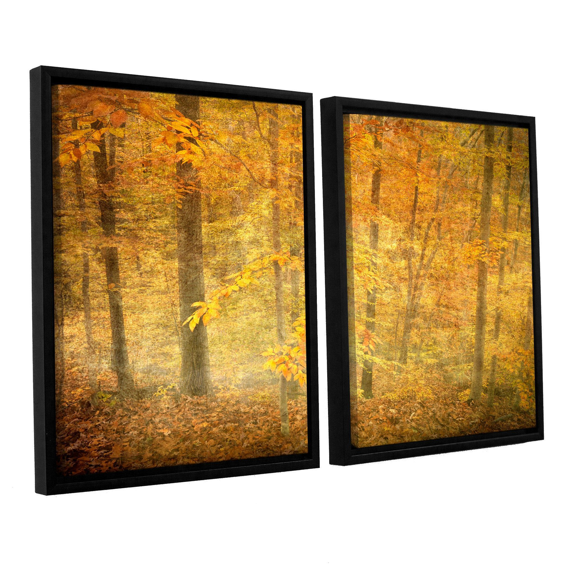 Lost In Autumn by Antonio Raggio 2 Piece Floater Framed Canvas Set ...