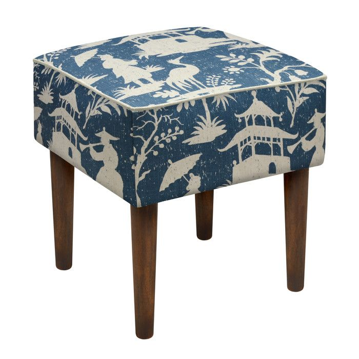 Terrific Chinoiserie Upholstered Vanity Stool Poufs Vanity Stool Creativecarmelina Interior Chair Design Creativecarmelinacom