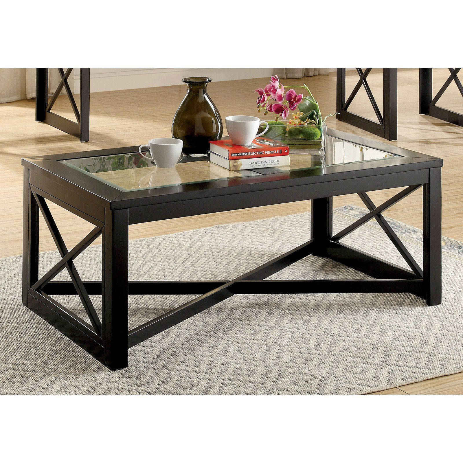 Furniture Of America Issa Contemporary Style Glass Top Coffee Table Coffee Table Solid Wood Coffee Table Coffee Table Wood [ 1600 x 1600 Pixel ]