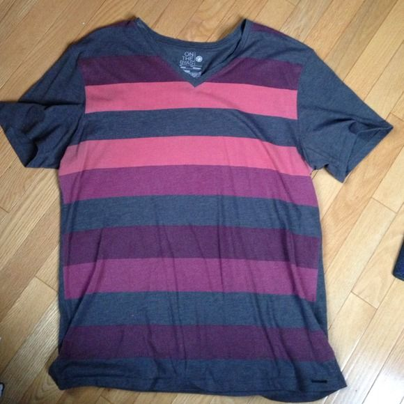 Pacsun MENS vneck tee Gently used tshirt - looks worn with small pilling on the colored stripes (picture) PacSun Shirts