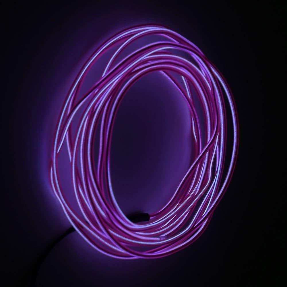 2M Glowing Flexible LED Neon EL Wire Light String | Light string ...