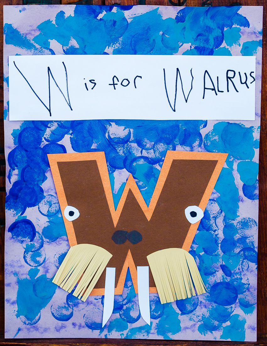 letter a art and craft w is for walrus my favorite of the set letter of the 21326 | 9299d3d418d0022907ddff3e143d0e63
