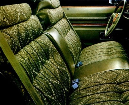 1974 Cadillac Coupe Deville Interior In Jasper Maharajah Cloth With